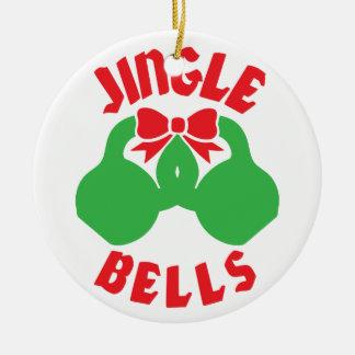 "Christmas Workout Motivation Jingle ""Kettle Bells"" Christmas Ornament"
