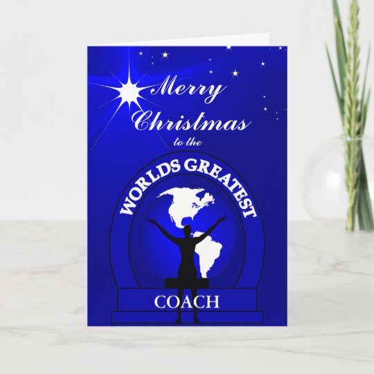 Christmas Worlds Greatest Coach Greeting
