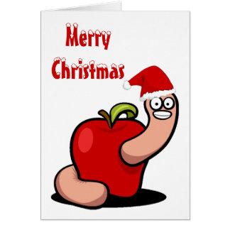 Christmas Worm Card