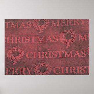 Christmas wrap print