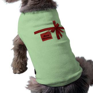 Christmas wrap t-shirt for pets