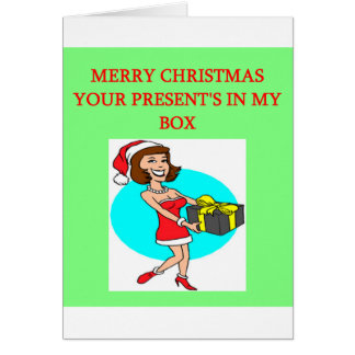 christmas wrapped present in the box joke greeting card