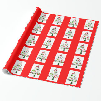 Christmas Wrapping Paper A Very Merry Christmas