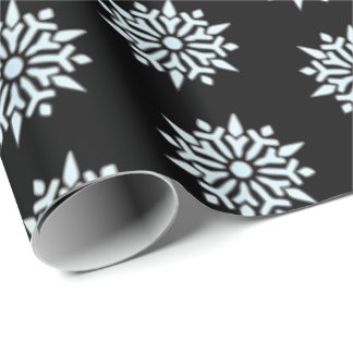 Christmas Wrapping Paper Nordic Snowflakes