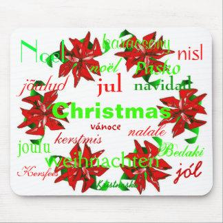 Christmas Wreath Around The World I Mousepad Mousepads
