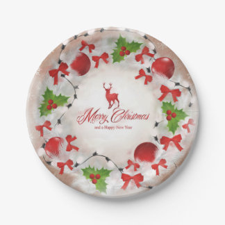 Christmas Wreath Art Paper Plate