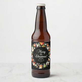 Christmas Wreath Beer Label