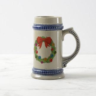 Christmas Wreath Coffee Mugs