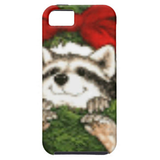 Christmas Wreath Decoration And Raccoon Case For The iPhone 5