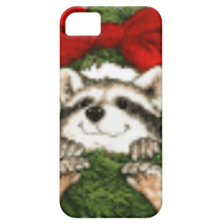 Christmas Wreath Decoration And Raccoon iPhone 5 Cover