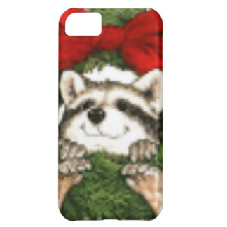 Christmas Wreath Decoration And Raccoon iPhone 5C Case