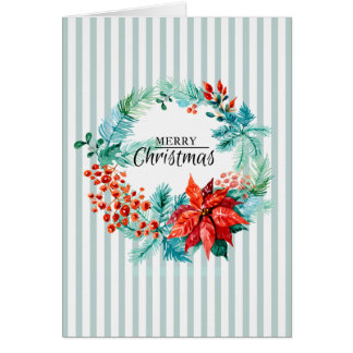 Christmas Wreath Folded Photo Card