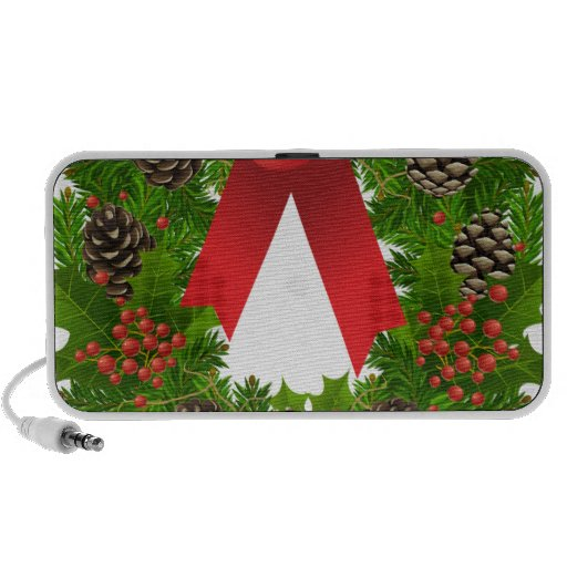 Christmas Wreath for the Holidays Notebook Speakers