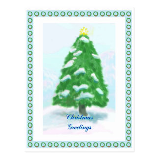 Christmas Wreath Frame Postcard