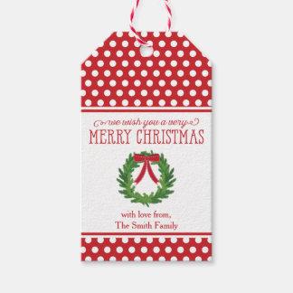Christmas Wreath Holiday Gift Tag
