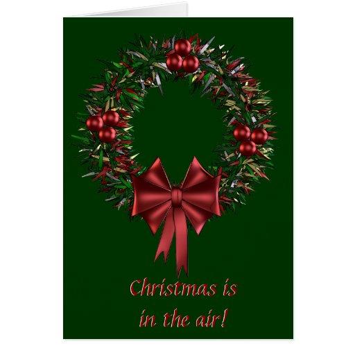 Christmas Wreath Holiday Greeting Card
