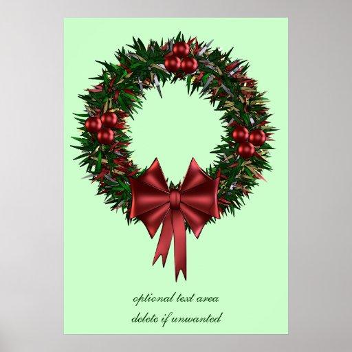 Christmas Wreath Holiday Poster