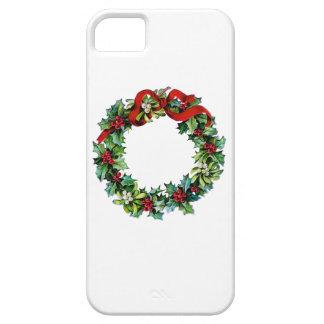 Christmas Wreath of Holly and MIstletoe iPhone 5 Case