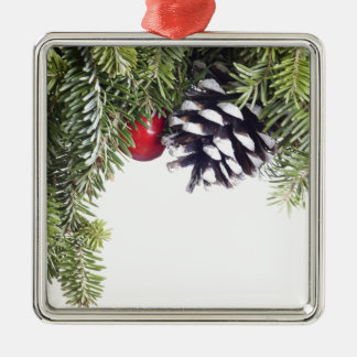 Christmas Wreath Pine Cone Red Berry Template Christmas Ornament