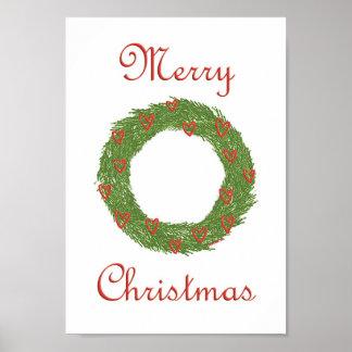 Christmas Wreath Print