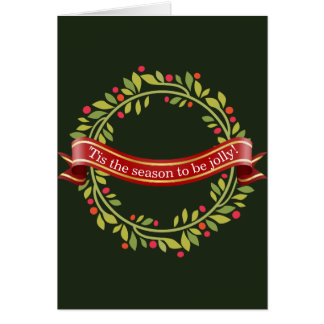 Christmas Wreath Tis The Season Card