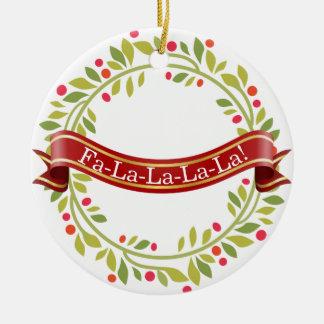 Christmas Wreath Tis The Season Christmas Ornament