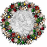 Christmas Wreath With Your Own Photo! Photo Sculpture Decoration