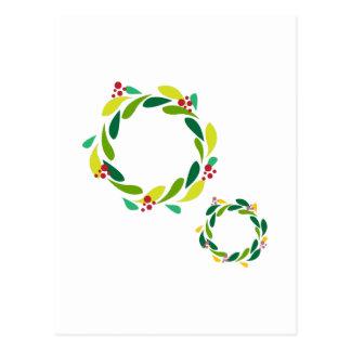 Christmas Wreaths Postcards