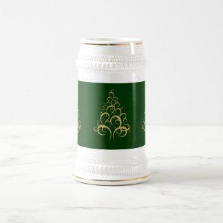 Christmas xmas beer stein elegant gold tree beer steins