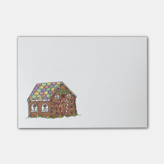 Christmas Xmas Gingerbread House Holiday Post-Its Post-it Notes