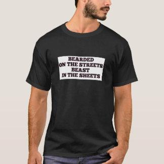 Christmas xmas hanukkah bearded street beast sheet T-Shirt