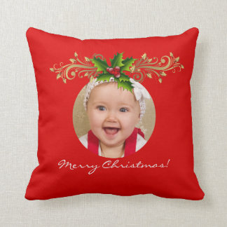 Christmas Xmas Photo Template Baby family Cushion