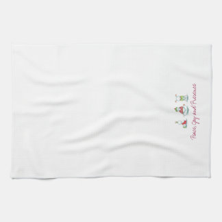 Christmas yoga  snowmen kitchen towel