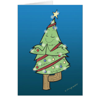 Christmas - Yoga Tree Pose Card
