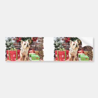 Christmas - Yorkie - Dorie Bumper Stickers