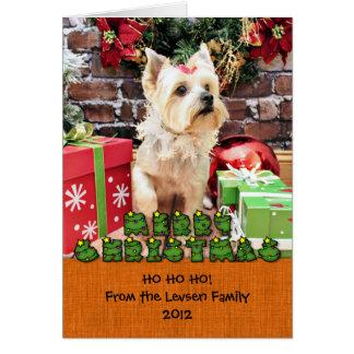 Christmas - Yorkie - Dorie Note Card