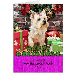 Christmas - Yorkie - Dorie Greeting Card