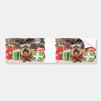 Christmas - Yorkie - Eli Car Bumper Sticker