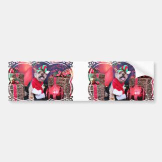 Christmas - Yorkie - Jake Bumper Stickers