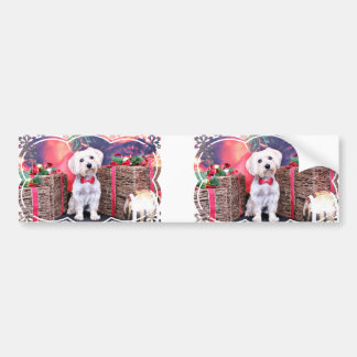 Christmas - Yorkie - Kinnick Bumper Sticker