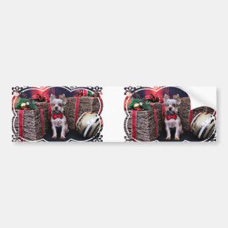 Christmas - Yorkie - Perseus Bumper Stickers