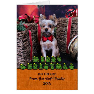 Christmas - Yorkie - Perseus Stationery Note Card