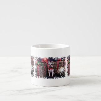 Christmas - Yorkie - Perseus 6 Oz Ceramic Espresso Cup