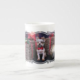 Christmas - Yorkie - Perseus Bone China Mug