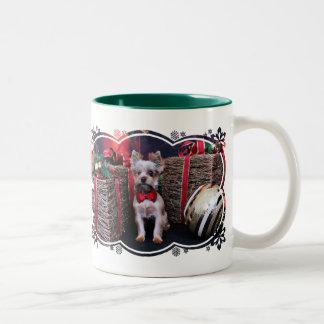 Christmas - Yorkie - Perseus Two-Tone Coffee Mug