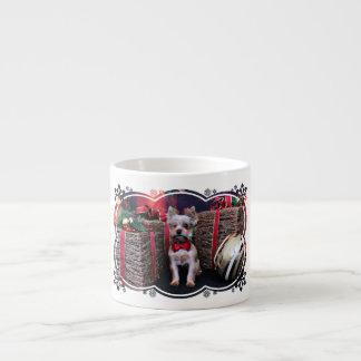 Christmas - Yorkie - Perseus Espresso Mugs