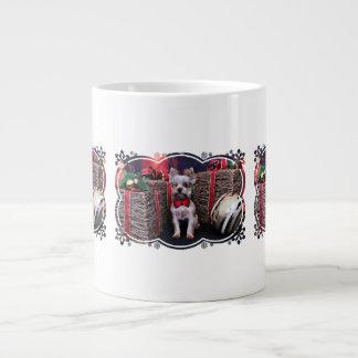 Christmas - Yorkie - Perseus Extra Large Mugs