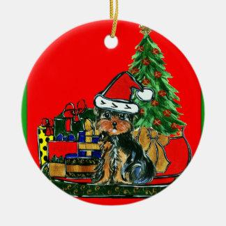 Christmas Yorkie Poo Christmas Ornament