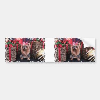 Christmas - Yorkie - T Lei Bumper Stickers