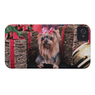 Christmas - Yorkie - T Lei Case-Mate iPhone 4 Cases